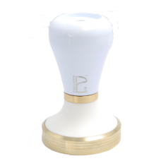 White on Bronze Barista Tamper
