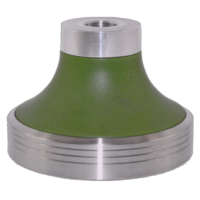 Stainless Steel Base + Green Cone