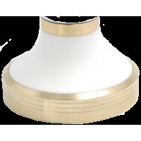 Aluminium Bronze Base + White Cone - Aluminium Bronze Spacer